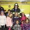 Members of Daisy Troop 6011, which meets at St. Paul's Evangelical Lutheran Church, visited with Firefighter Harry Huhn of the North Catasauqua Fire Department.