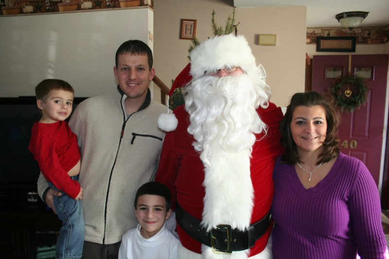 Santa visits the Regits Family